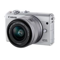 CANON - Appareil photo hybride blanc M100 15-45