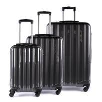 Alpini - Lot de 3 valises rigide 4 roues Selecta S gris Metzelder