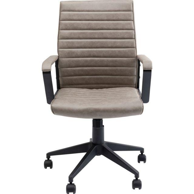 Karedesign Chaise de bureau Labora taupe Kare Design