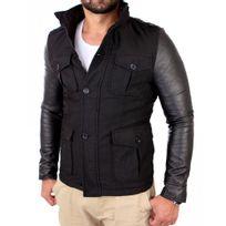 Young And Rich - Manteau tendance homme Manteau Yr496 noir