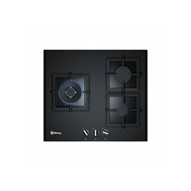 Balay Plaque au gaz 3ETG663HN 60 cm Noir Verre 3 cuisinière
