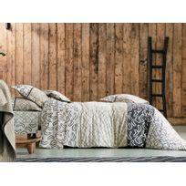 Blanc des Vosges - Housse de couette 100% coton patchwork motif géométrique ethnique marron/beige Variations - 240x220cmNC