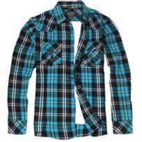 Yves Enzo - Chemise à carreaux - Bleu