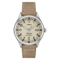 Timex - The Heritage Waterbury Date 38mm Acier/Beige