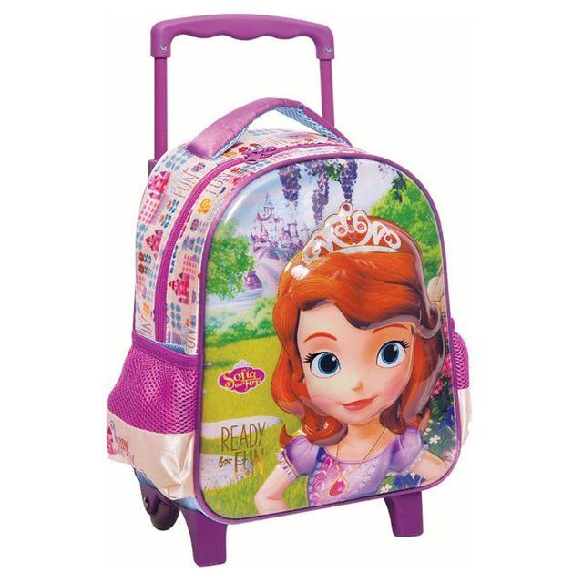 Disney Princesses - Sac à roulettes trolley maternelle Princesse Sofia Fun  31 Cm - Cartable d659c683f6f2