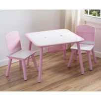 Delta Children - Table enfant et 2 chaises rose