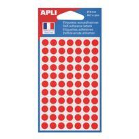 Agipa - Pastilles adhésives Ø 8 mm 11183 rouges - Pochette de 462