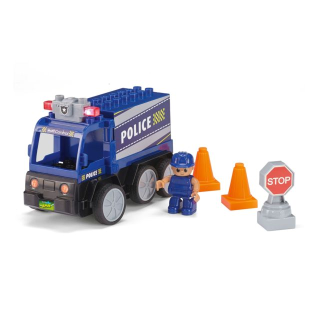 REVELL RC-Junior Camion Police REVELL CONTROL JUNIOR : Une gamme RC pour les plus petits. A partir de 3 ans. Quelques accessoires à monter rapidement. Ludique (pas de batteries) et simple d'utilisation