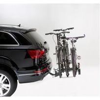 Porte-vélo plateforme, basculable sur attelage Premium 3 vélos A018P3RA, fixation sur boule d'attelage
