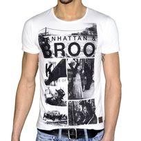 Stoneuk - Stone Uk - T Shirt Manches Courtes - Homme - Big Apple - Blanc