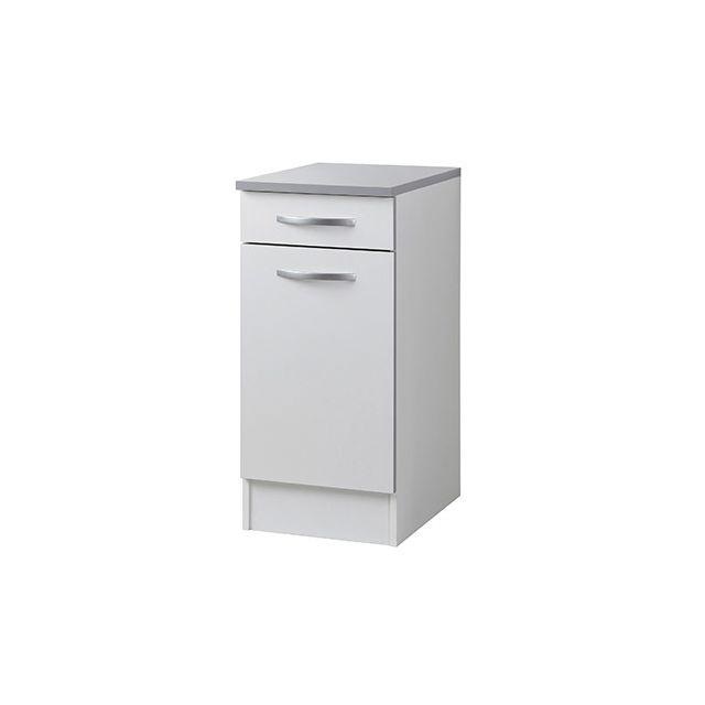 Meuble bas L40xH86xP47cm - blanc