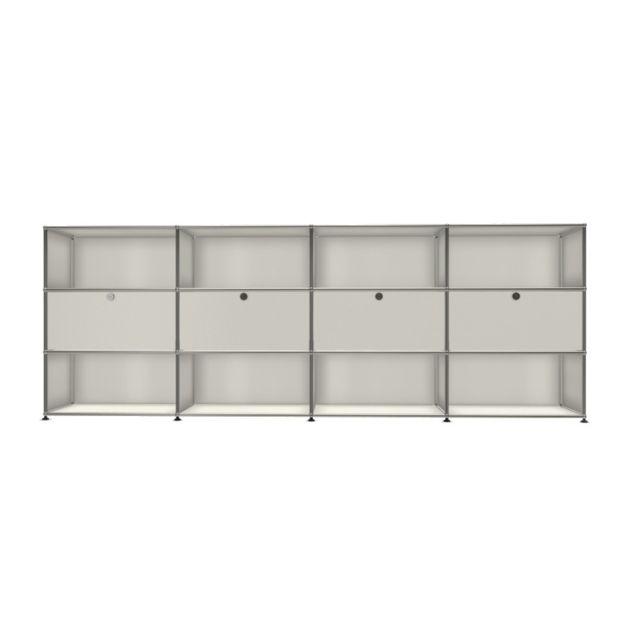 Usm Haller Board 4 x 3 éléments - ouvert - 24 blanc pur - ouvert - extrait