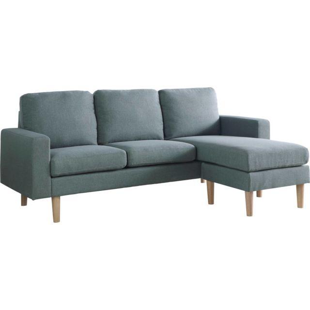 HABITAT ET JARDIN - Canapé d angle réversible Gino - 3 Places - Gris ... 0085cb5da831