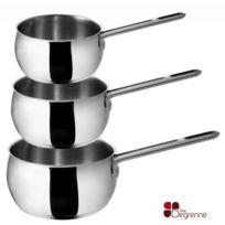 Guy Degrenne - Série de 3 casseroles de 16 - 18 - 20 cm Promotion - 22 -newCook Idea par