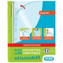 ELBA - Eaz'In - Bloc de 60 pochettes perforées détachables- A4