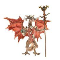 Plastoy - Figurine Dragon sorcier rouge