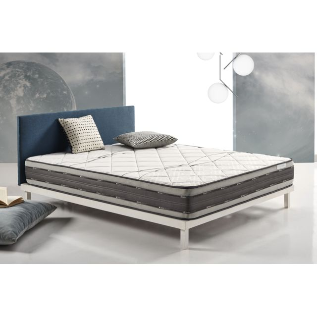 COSMOS Matelas SATELLITE 90X190 cm mousse à mémoire VISCO V200® - VISCO GEL® - 25 cm - Confort tonique