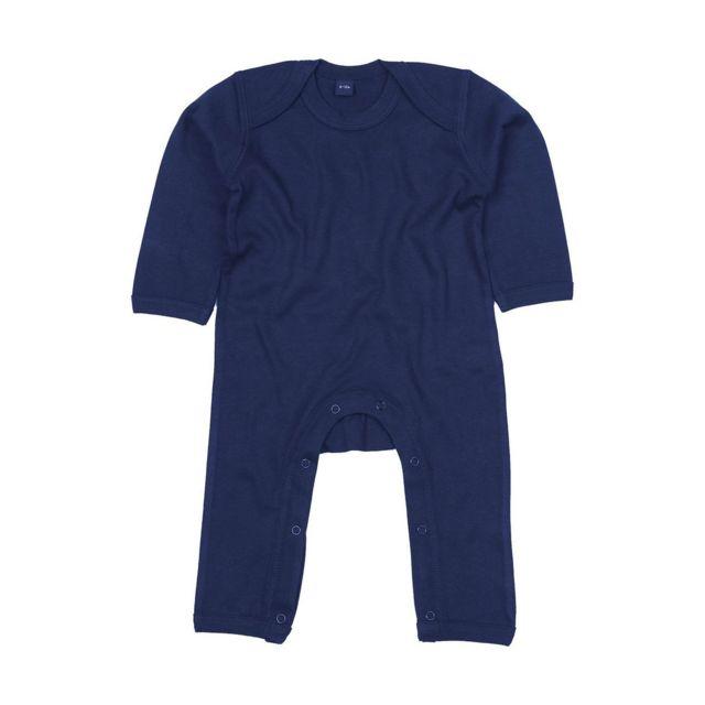 Babybugz - Barboteuse body bébé jambes manches longues - Bz13 - bleu marine 5f353d33472