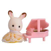 Sylvanian - Valisette bébé lapin avec piano