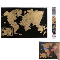 Touslescadeaux - Carte du Monde à Gratter en Français - Poster Monde Xxl 60 cm x 40 cm