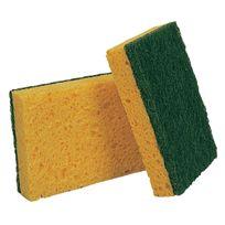 Nicols - Eponge grattante végétale Vert Gm collectivité 13 x 9cm Par10