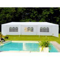 HABITAT ET JARDIN - Tente de réception Carolina en polyéthylène - 3 x 9 m