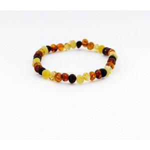 Ambre - Bracelet adulte multicolore perles 20 cm