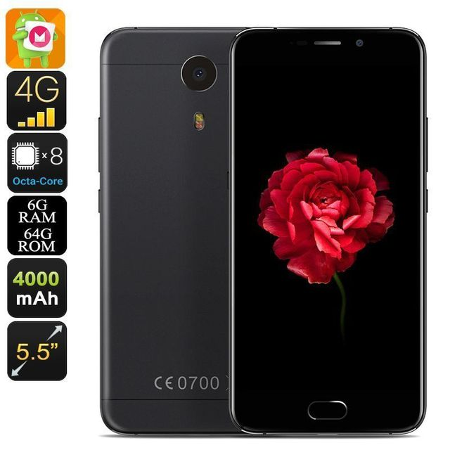 Yonis Smartphone 5.5' Android 6.0 4G Helio P20 Octa-Core 2.3Ghz 6Gb Ram 64Go