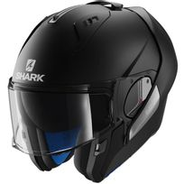 Shark - casque intégral modulable en jet Evo-one Blank Blk moto scooter noir mat M