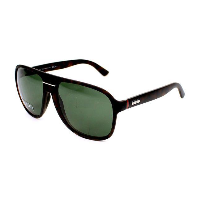f13d3ec547dc Gucci - Gg 1076 N S Qxg85 Havane - Lunettes de soleil - pas cher Achat    Vente Lunettes Tendance - RueDuCommerce