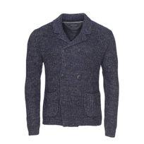 Marc O'POLO - Gilet en laine vierge et lin bleu chiné