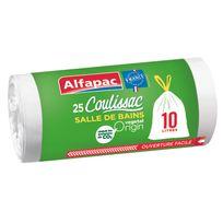 ALFAPAC - COULISSAC - 25 sacs poubelle SDB - 10L - CXV01025OF