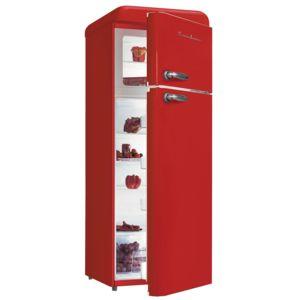 schaub lorenz r frig rateur 2 portes rouge 208l sl 208 ddr achat r frig rateur a. Black Bedroom Furniture Sets. Home Design Ideas