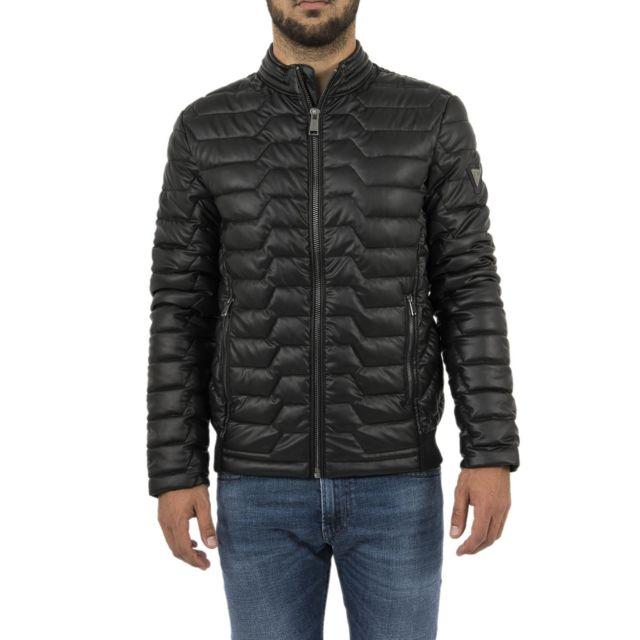 Guess - Doudounes jeans m84l36 noir - pas cher Achat   Vente Vestes ... 5bb05f28726