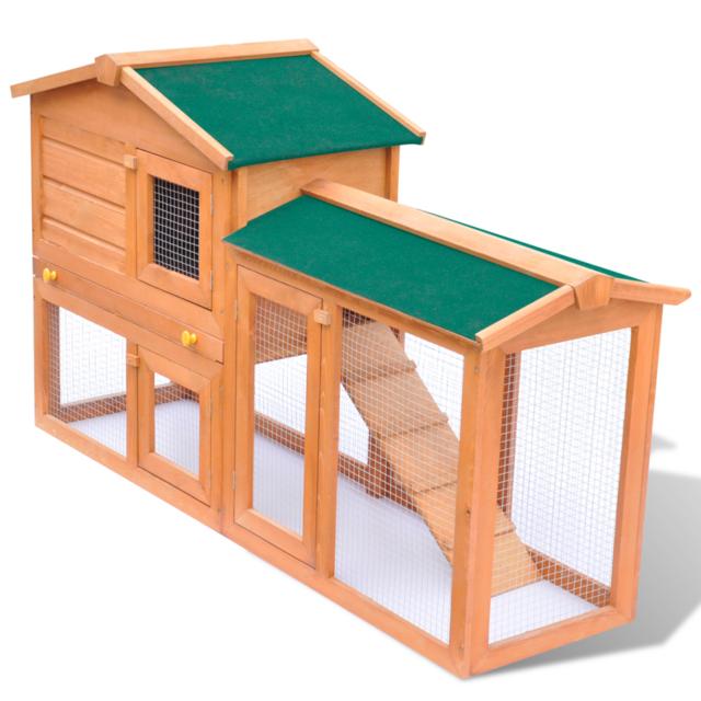 Rocambolesk - Superbe Grande Cage Clapier Extérieur en Bois pour Lapins neuf