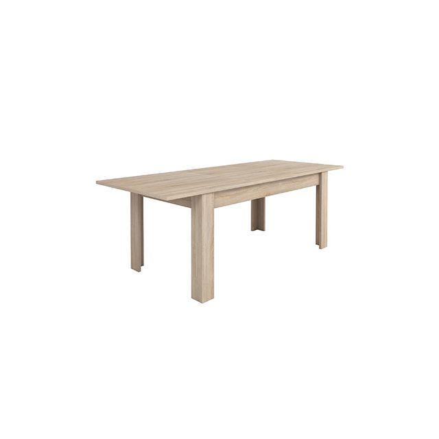 Table avec allonge 170/230x90 - coloris chêne brossé