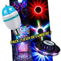 Lytor - Pack soirée lumière Ampoule à Leds Rvb rotative + Jeu de lumière style Ovni