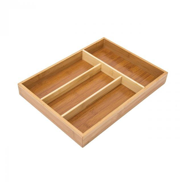 helloshop26 range couvert extensible rangement pour tiroir cuisine bambou nature 4313030 pas. Black Bedroom Furniture Sets. Home Design Ideas