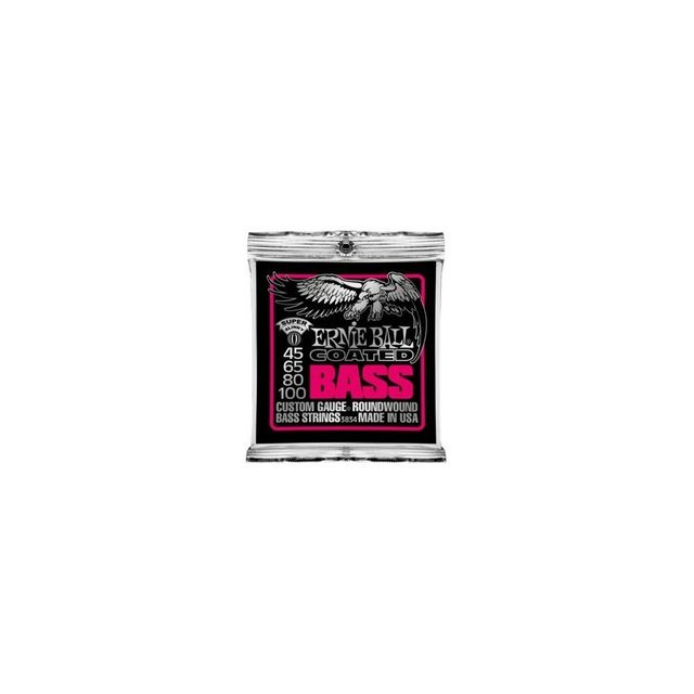 Ernie Ball Coated Super 45-100 - Jeu de cordes guitare basse - P03834