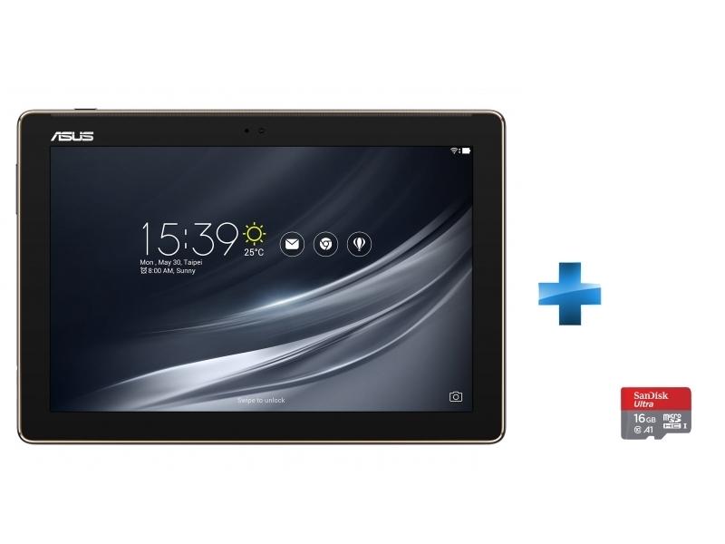 Zenpad Z301M - 10,1'' - IPS HD - 16 Go - Bleu + Carte micro SD Ultra 16 Go100MB/s C10 UHS U1 A1 Card+Adaptateur