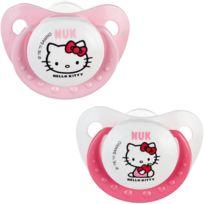 NUK TIGEX - Lot de 2 sucettes t3 hello kitty