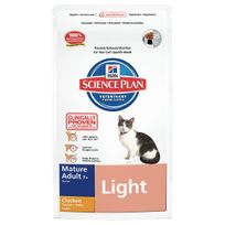 Hill'S - Science Plan - Croquettes Light au Poulet pour Chat Sénior - 1,5Kg