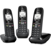 GIGASET - téléphone sans fil trio dect noir - as470 trio noir 5248275622a2