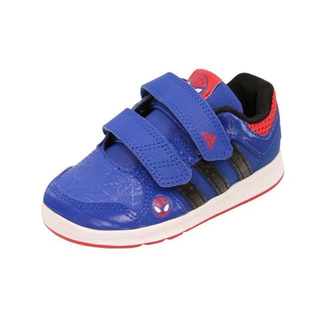 42b70030323b2 Adidas - LK SPIDER-MAN CF I BB BLE - Chaussures Bébé Garçon Multicouleur 20  - pas cher Achat   Vente Baskets enfant - RueDuCommerce