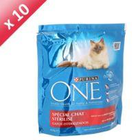 One - Croquettes pour chat sterilise 450g x 10