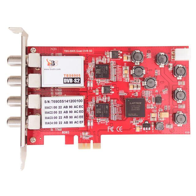 TBS 6905 PCI-E DVB-S2 Quatre Tuner carte TV/Vidéo Capteur Carte, nouvelle version de ®6985, compatible avec Windows 2000/XP/