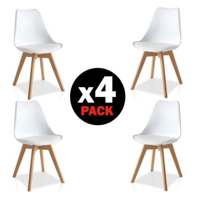 Comfort Home Innovation Lot De 4 Chaises Scandinaves Eyra