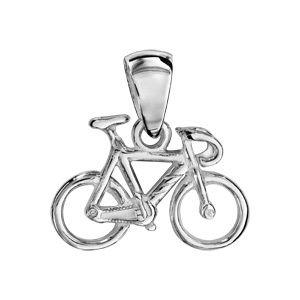 1001BIJOUX Pendentif Vélo de course en argent