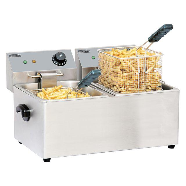 CASSELIN friteuse électrique 2x4l 4000w - cfe42