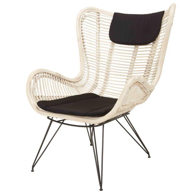rotin design fauteuil axel en rotin beige pas cher achat vente fauteuils rueducommerce. Black Bedroom Furniture Sets. Home Design Ideas
